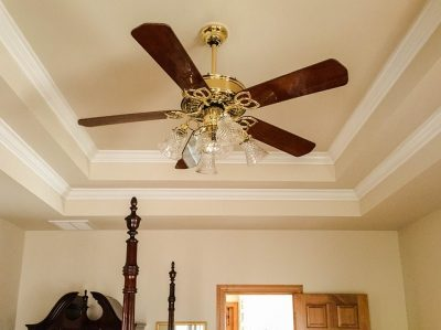 four-bladed ceiling fan with lights